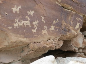 Ute Petroglyphs from the mid 1600's-1800's