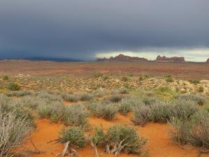 Spectacular desert storm