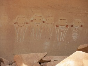 Five Faces Pictograph in Davis Canyon