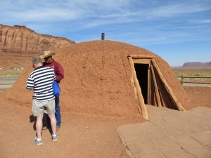 A Hogan which is a Navajo dwelling