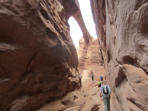 A narrow ledge led to Surprise Arch