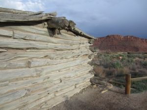 Wolfe Ranch cabin in Arches NP
