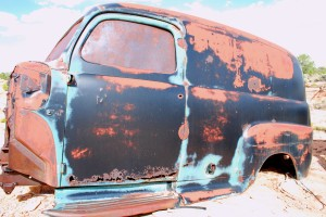Abandoned panel truck at Poverty Ranch