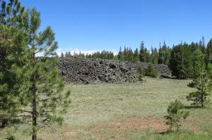 Fields of black lava