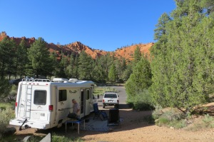 Red Canyon Campground in the Dixie National Forest