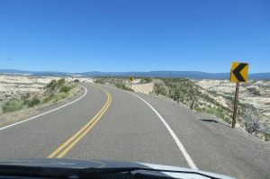 Driving on the top of a ridge with steep drop offs on both sides