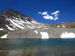 One of the Blue Lakes at the top
