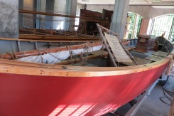 Reproduction boats from the Lewis and Clark Expedition