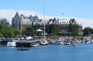 The inner harbor and the Empress Hotel
