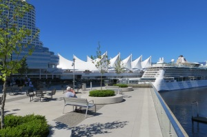 Canada Place and cruise ship port in downtown Vancouver