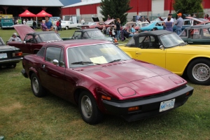 Finn's TR7 in his first Classic car show