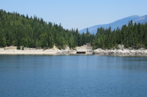 The ferry landing on the other side of Upper Arrow Lake