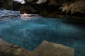 Small hot spring cave that was discovered in 1883