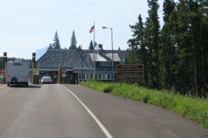 The border crossing at Chief Mountain