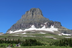 The beginning of the hike up Hidden Lake trail from Logan Pass