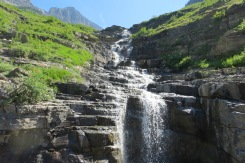 Mountain runoff beside the road