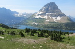 Hidden Lake, the view from the top of the trail