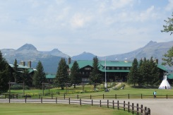 Glacier Park lodge with a 9 hole golf course, swimming pool and spa
