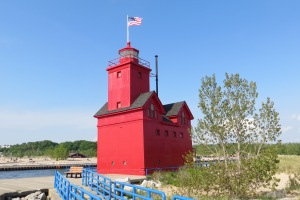 Holland Lighthouse on Lake Michigan