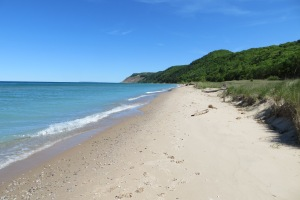 Sandy beaches of Sleeping Bear Dunes National Lakeshore