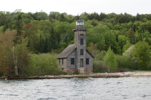 The Grand Island East Channel Lighthouse built in 1863 and seen on our way out of the bay.